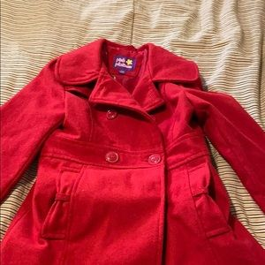 Girls red winter coat